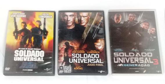 Dvd - Soldado Universal 3 Filmes - Van Damme - Original