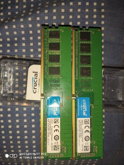 Memorias Ram Ddr4 Crusial 8 Gb (2x4gb)
