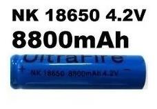 2 Baterias Ultrafire Nk18650 8800mah 4,2v Li-ion
