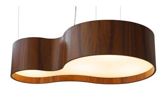 Pendente Semi Cilíndrico Em Madeira Curve 1 85cm Union 097