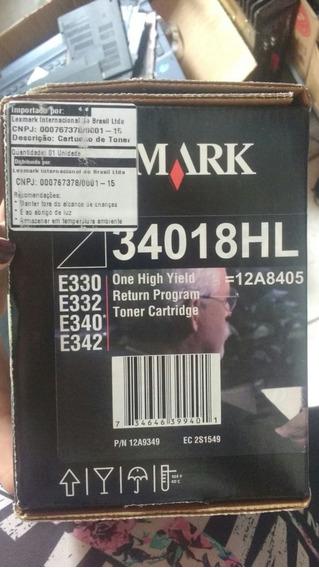 Cartucho De Toner Lexmark E330 34018hl 2,5k Original Lote