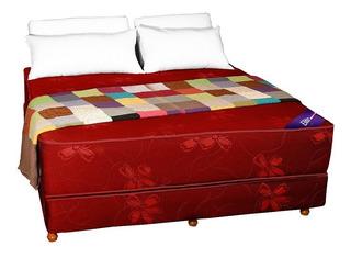 Colchon Y Sommier Queen Size Resortes Somier 1,90 X 1,60
