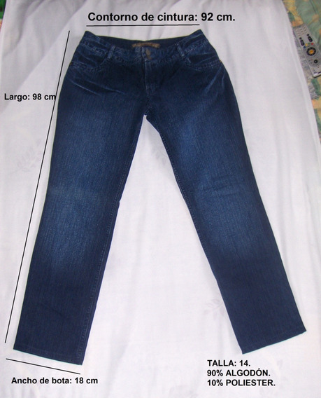 Pantalón Blue Jeans Dama Marca: Diane. Talla: 14. (12 Vrds).