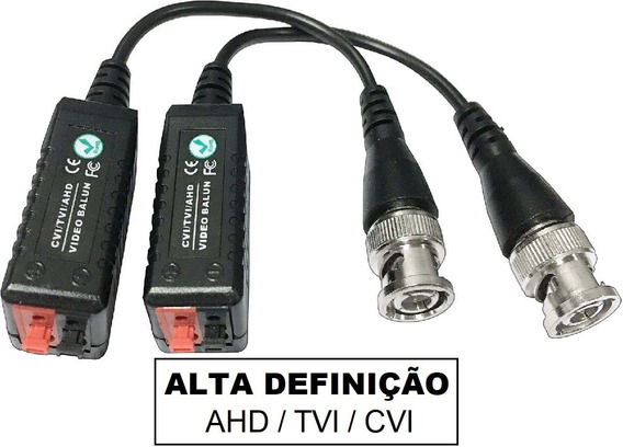 20 Pares Video Balun Sinal Hd Camera Ahd/tvi/cvi Alta Def.