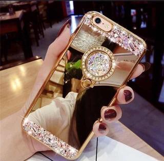 Linda!!! Capa Para Celular Cristal Luxo Com Anel De Metal