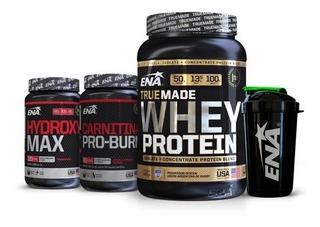 Combo Ena Definicion Muscular Quemador Proteina + Shaker