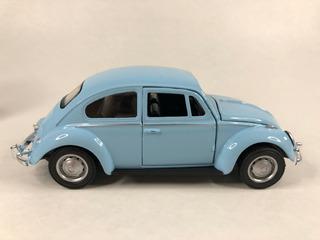 Carrinho De Ferro Fusca Clássico E Herbie Miniatura Coleção