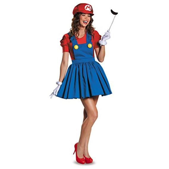 Disfraz Mario, Versión Mujer Falda Adulto,