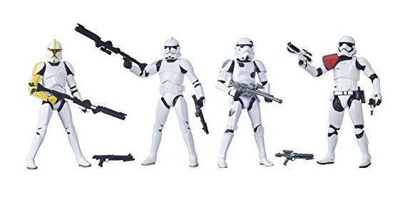 Star Wars La Serie Negro 6 Pulgadas Stormtrooper 4-pack [exc