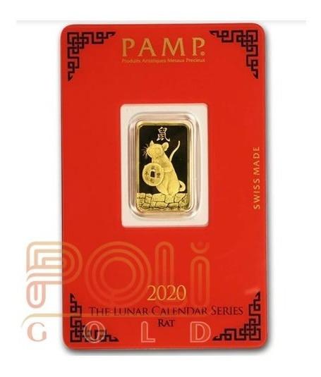 Lingote De Pamp 5 G. De Oro Puro 0,999 De 24 K Rata 2020