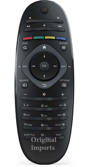 Controle Remoto Philips Tv Lcd / Led 32pfl3406d 32pfl3606d