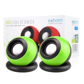 Mini Caixa De Som 2.0 Usb 5v Exbom Pc Notebook Celular Cs-79