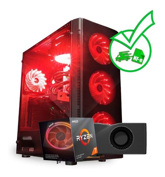Computador Gamer Ryzen R7 3700x + Rx 5700x 8gb + 1tb + Nf