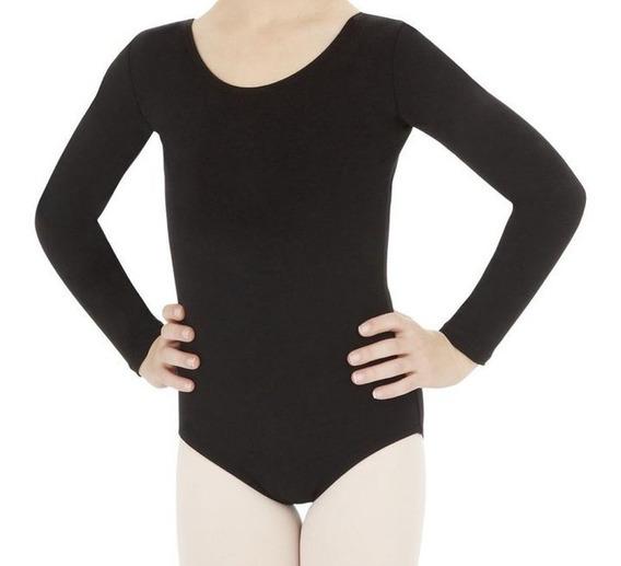 Collant Manga Longa Ballet Basic
