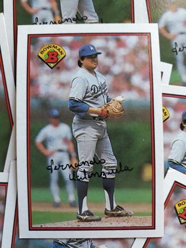 Imagen 1 de 3 de Lote De 10 Tarjetas 1989 Bowman Fernando Valenzuela Dodgers
