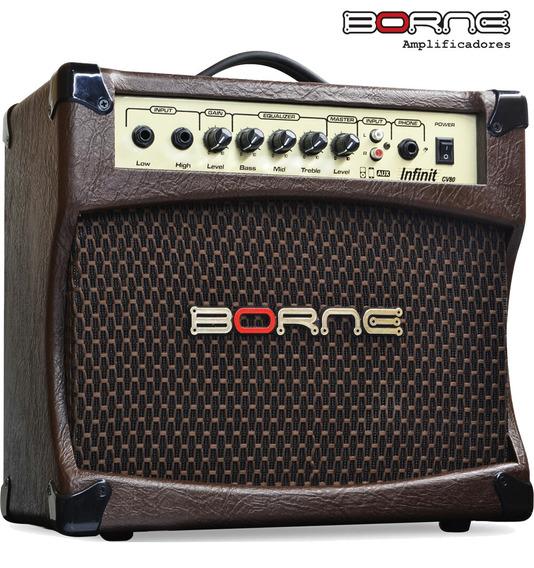 Amplificador Violão Acústico Borne Cv80 30w - Suzano Sp