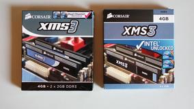 Memória Desktop Corsair Xms 3 Ddr3 1600mhz - 4 Pentes De 2gb