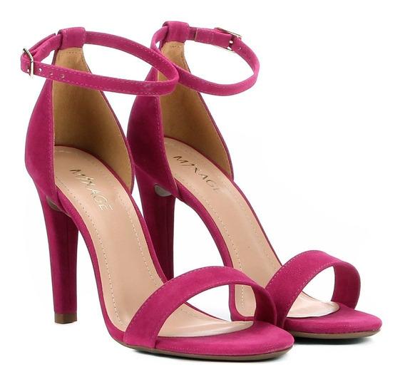 Sandália Feminina Salto Alto Pink Preta Verniz Verão 1906945