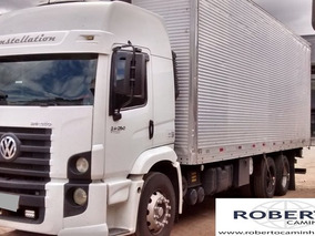 Vw 24250 Const Truck 6x2 Ano 2010/11 Baú, Completo.