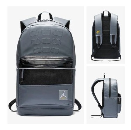 Mochila Jordan Retro 4 Bagpack Grey Edition Esp Para Laptop