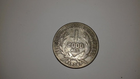 Moeda Antiga Rara 2000 Réis 1924 Mbc