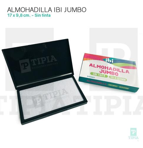 Almohadilla Ibi Jumbo 170x98 Mm. Sin Tinta Almagro