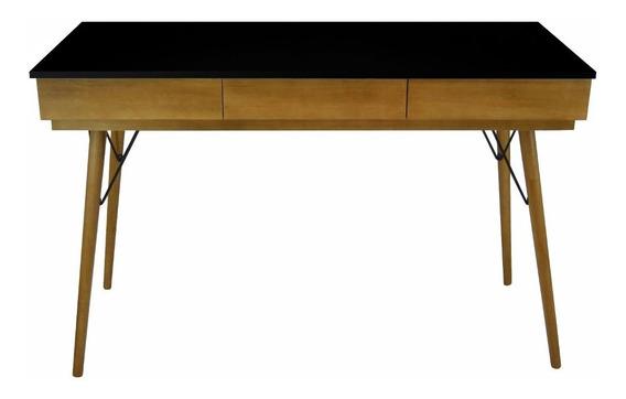 Mesa Para Computador Escrivaninha Gaveta Pés Palito Madeira