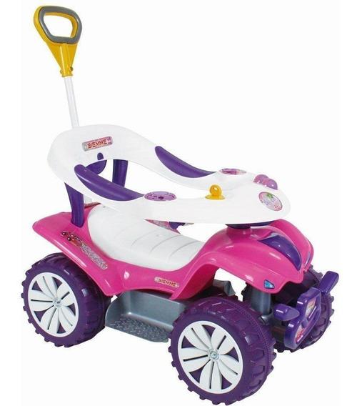 Andador Infantil Carrinho D Passeio Empurrador Triciclo Rosa
