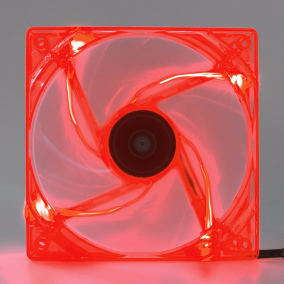 Cooler Fan Pc Gamer 120mm Led Vermelho Ventoinha Dx-12l