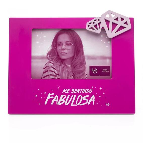Porta Retrato Com Aplique Diva Glam Ludi