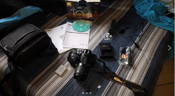 Câmera Nikon D5300 Full Hd Kit 18-55mm+128gb +bolsa+tripé