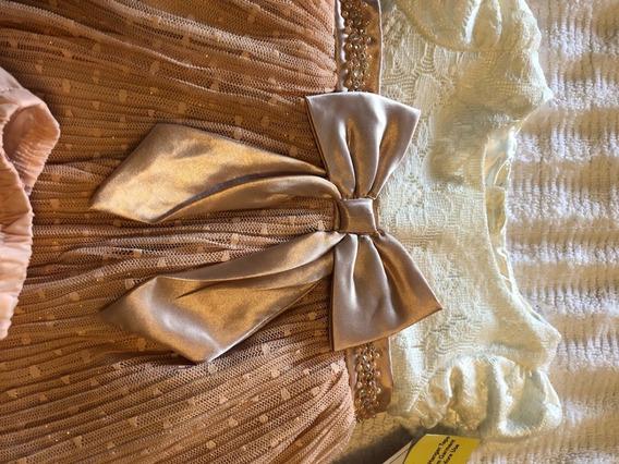 Sweet Heart Vestido Festa Bebê Menina 9 - 12 Meses 2 Peças
