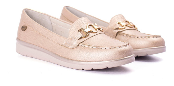Cavatini Zapatos Livianos Mujer Nautico Mocasin Cuero Vacuno