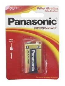 Bateria Panasonic 9v Alcalina Mega Promoção Kit C/ 60 Unidad
