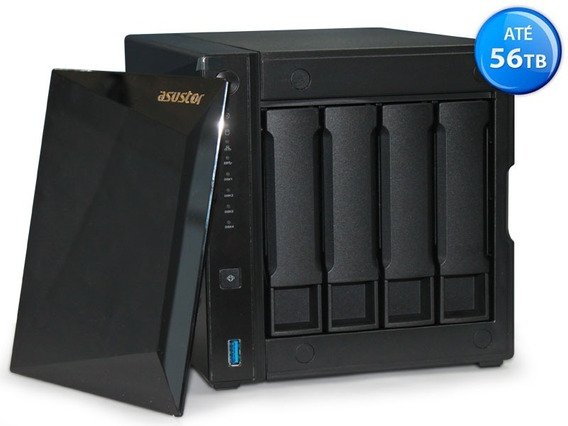 Nas Asustor As4004t Marvell Dual Core 1,6ghz 4 Baias