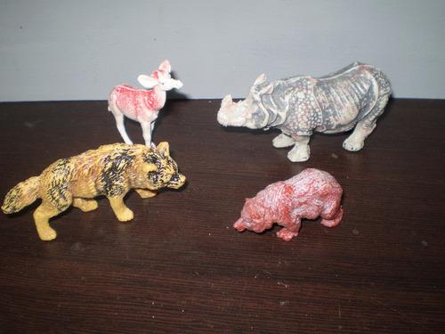 Lote De 6 Antiguos Animales Plastico Soldaditos No Envío