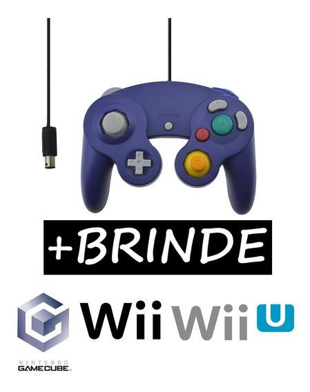 Controle Game Cube Nintendo Wii U Controller Gamecube Roxo