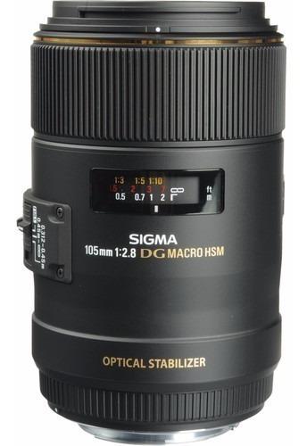 Objetiva Sigma 105mm F/2.8 Ex Dg Os Hsm Macro Lens P/canon