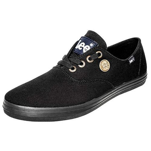 Tenis Sneaker Lee Hombres Textil Negro K81208 Dtt