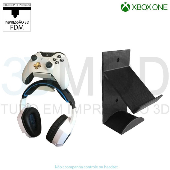 Suporte Controle E Headphone Headset Xbox One De Parede
