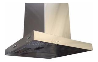 Campana Cocina Isla Slim 60x60 Acer Inox Motor Turbo Luz Led