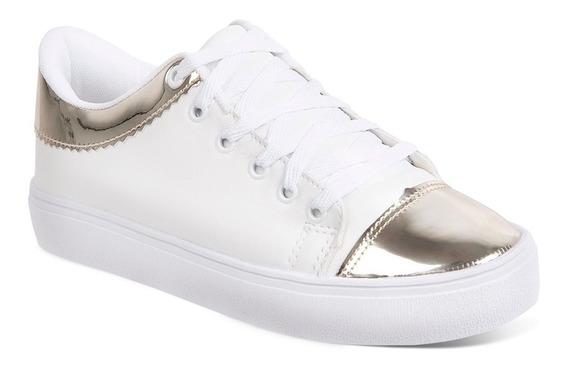 Tênis Feminino Luma Ventura 1044 Branco/dourado