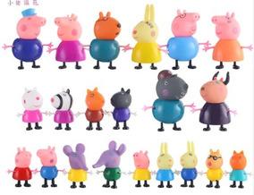 21 Pçs Miniaturas Peppa Pig E Turma / Família / Amigos