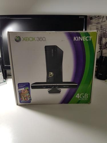Xbox 360 Slim 4gb Con Kinect Caja + 2 Joystick + 10 Juegos