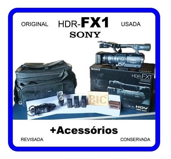 Filmadora Sony Hdr-fx1 1080i Original + Acessórios Usada