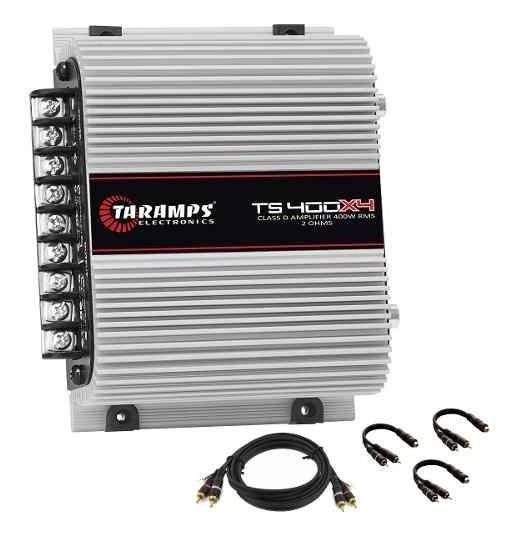 Taramps Ts 400x4 Amplificador Digital 400w + Cabo Rca + Y