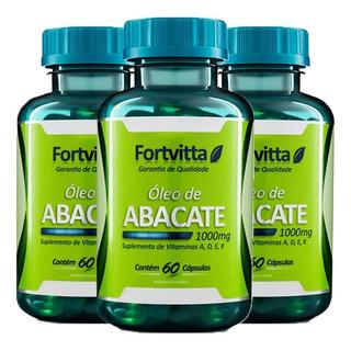Óleo De Abacate - 60 Cápsulas (3 Unidades) - Fortvitta