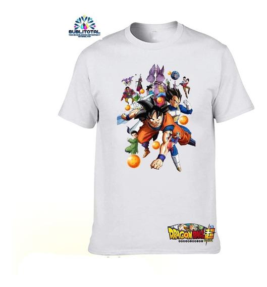 Franelas Para Niños Dragon Ball Sublimadas Personalizadas