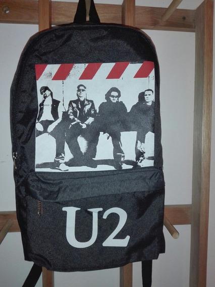 Mochila De Rock Banda U2 Escolar Otros Motivos Disponibles