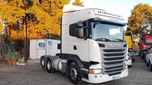 Scania R440 6x2 Highine Automático Único Dono Impecável Top